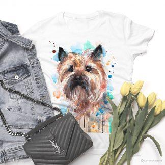 Тениска с куче Кеърнтериер