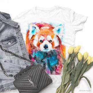 Тениска с червена панда