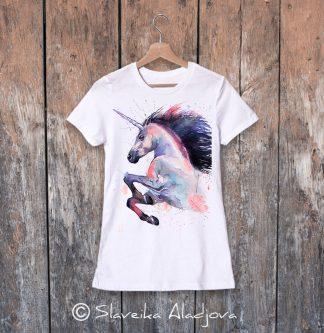 Дамска тениска с еднорог