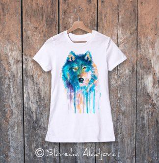 Дамска тениска - Син вълк