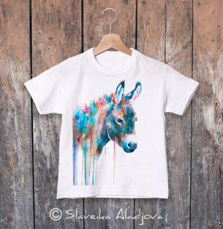 детска тениска с магаре