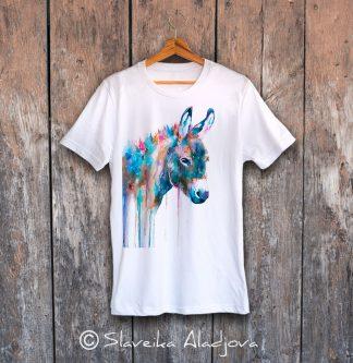 мъжка тениска с магаре