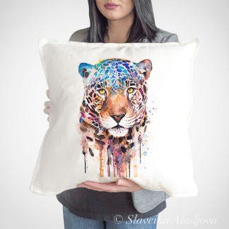 декоративна възглавница с ягуар