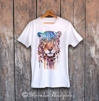 Мъжка тениска с ягуар