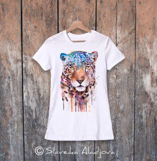 Дамска тениска с ягуар
