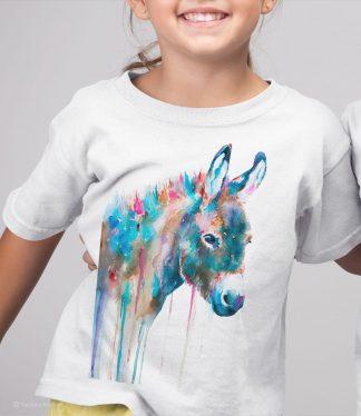 Детска тениска с красиво магаренце