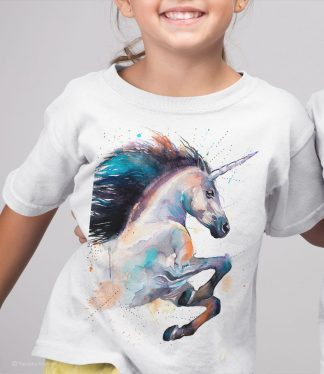 Детска тениска с картина еднорог