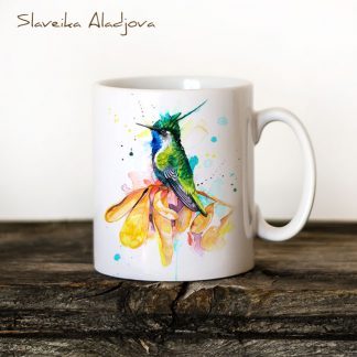 чаша колибри златен коронован смарагд