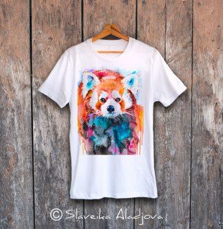 Мъжка тениска червена панда