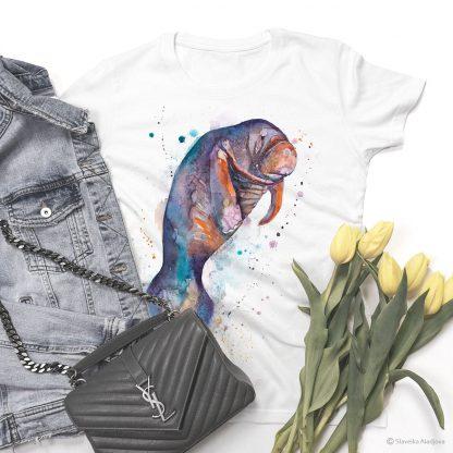 Тениска с морска крава 2