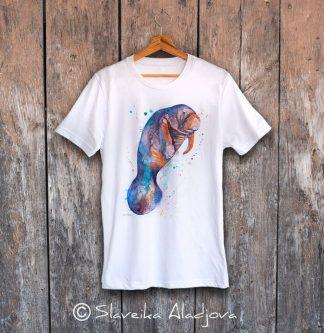 мъжка тениска с морска крава 2