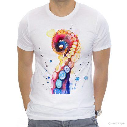 тениска с октопод пипало