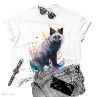 тениска със сребърна лисица