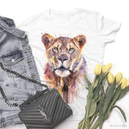 тениски с щампи лъв