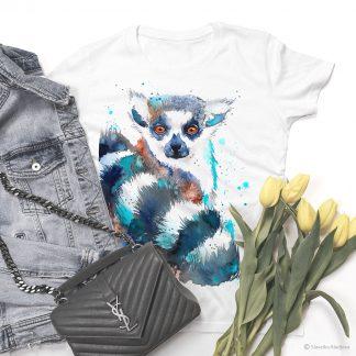 тениска с лемур