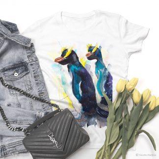 Тениска с качулати пингвини