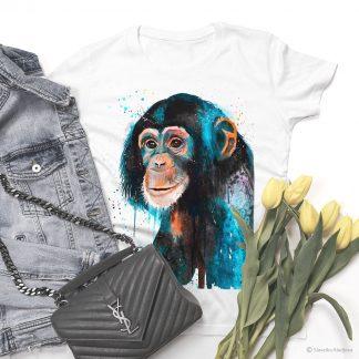 тениска с шимпанзе