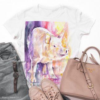 тениска с прасе