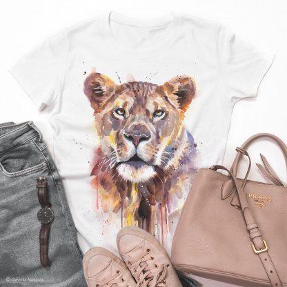 тениски с щампи лъвица