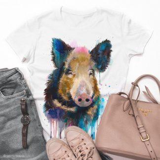 тениска с дива свиня