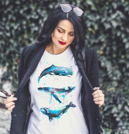 Тениска с китове, тениски с щампи