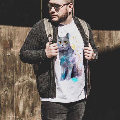 Тениска с котка британска късокосместа