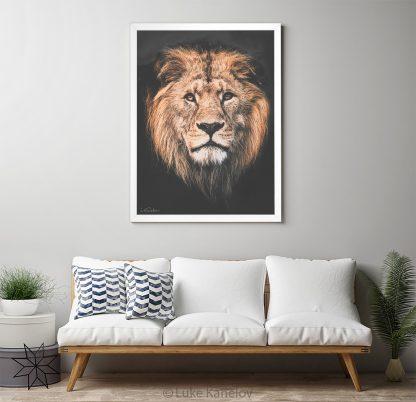 Арт фотография с африкански лъв