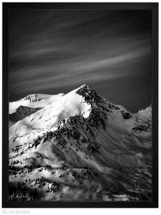 черно бяла арт фотография връх Сиврия пирин планина