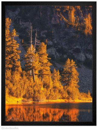 есен на планинско езеро пейзажна фотография