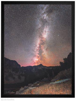 нощна фотография звезди в Пирин планина