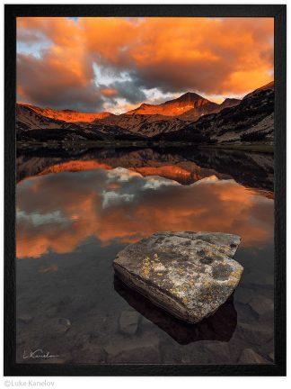 Муратово езеро по залез, връх бъндеришки чукар