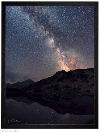 Нощ в пирин млечния път над Муратово езеро