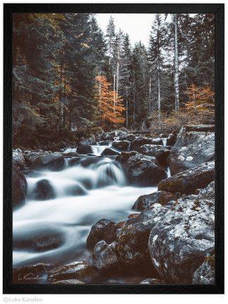 пейзажна фотография река Демяница през есента, Пирин