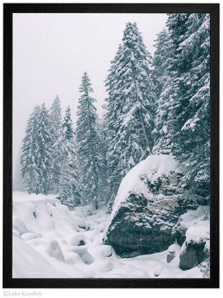 снежен пейзаж пирин планина