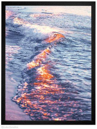 Огнени морски вълни-морска пейзажна фотография