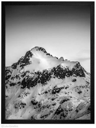 връх дженгал през зимата пейзажна фотография