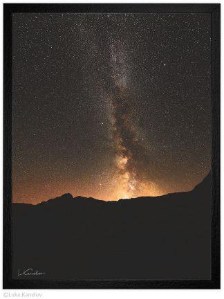 звезди над планината пейзажна фотография