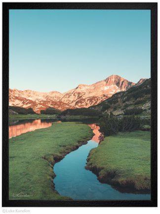 муратово езеро по залез пейзажна фотография