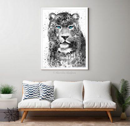 Черно бял леопард