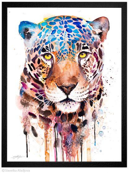 ягуар акварелна картина художник славейка аладжова
