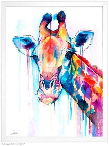 жираф акварелна картина художник славейка аладжова