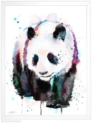 панда акварелна картина художник славейка аладжова