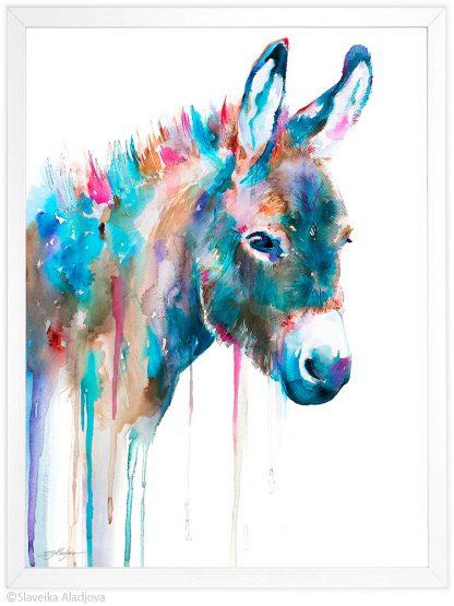 магаре акварелна картина художник славейка аладжова