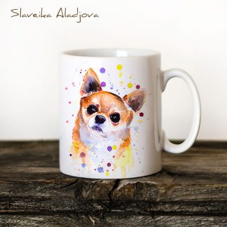 Чаша с куче чихуахуа