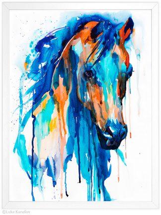 син кон, акварелна картина