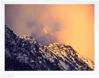 връх газей, пирин в мъгла пейзажна фотография