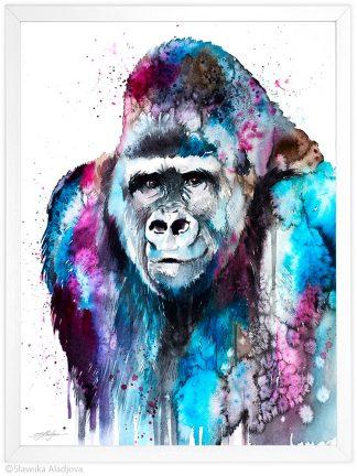 горила акварелна картина